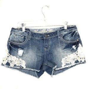 Vanilla Star distressed shorts